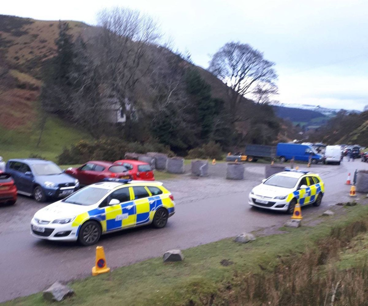 The situation at Carding Mill valley on Sunday. Photo: South Shropshire safer neighbourhood teams