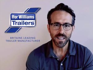 Ryan Reynolds in a spoof Ifor Williams Trailers ad