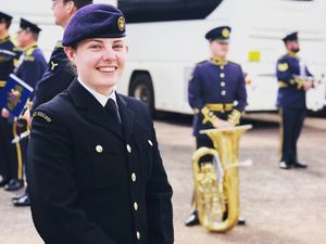 Molly Oakley from Ironbridge took part in the Duke of Edinburgh's funeral parade on Saturday