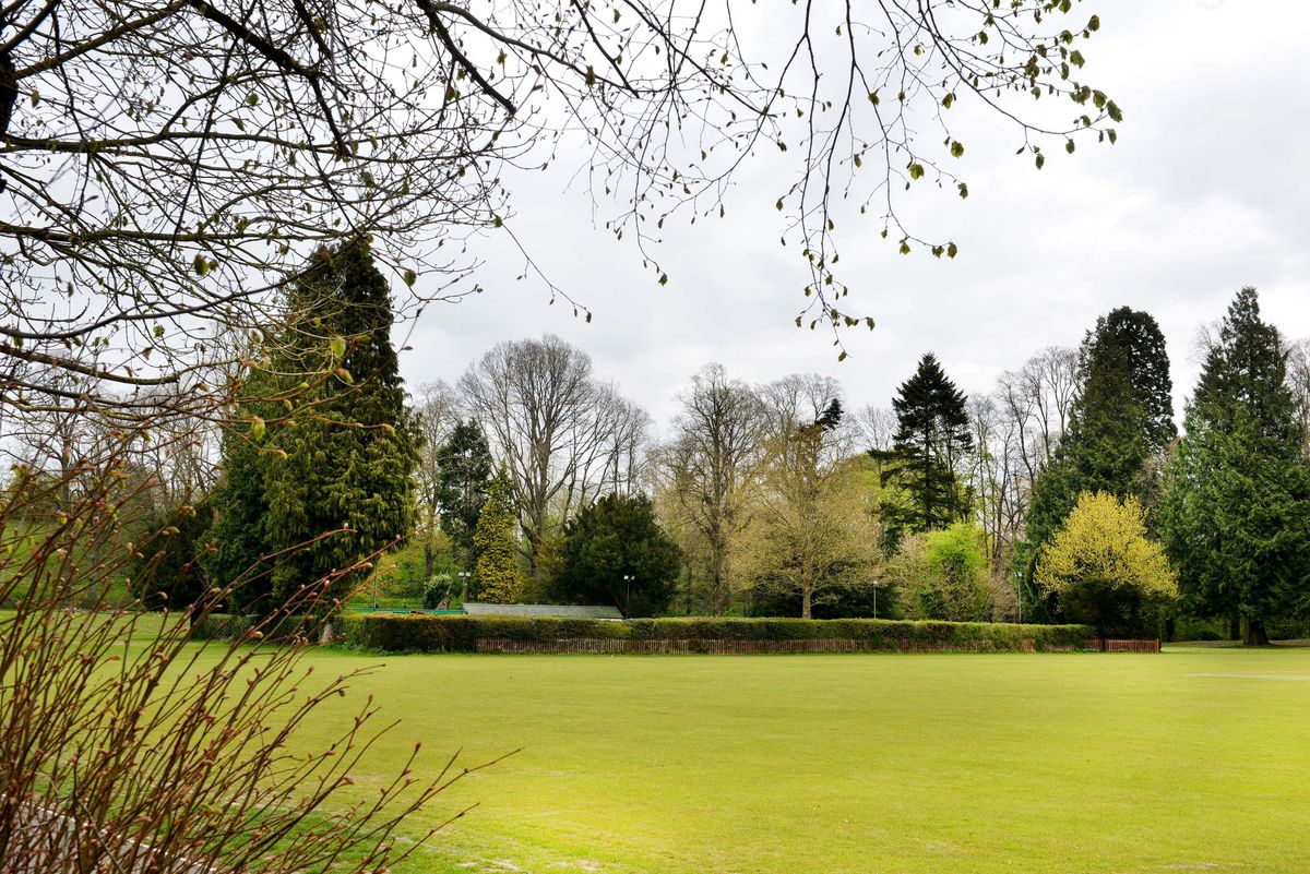 The club is situated behind the hedges seen here