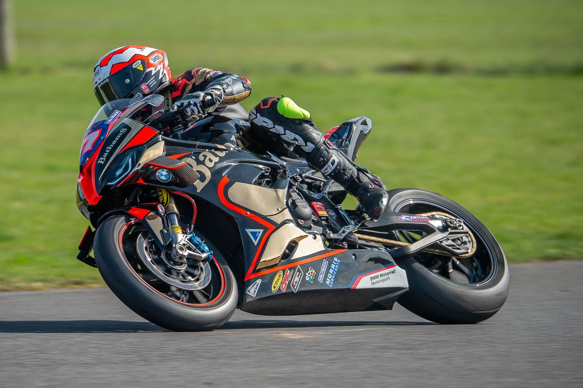 Mackenzie was out on the new BMW M1000RR. Picture: Tony Else