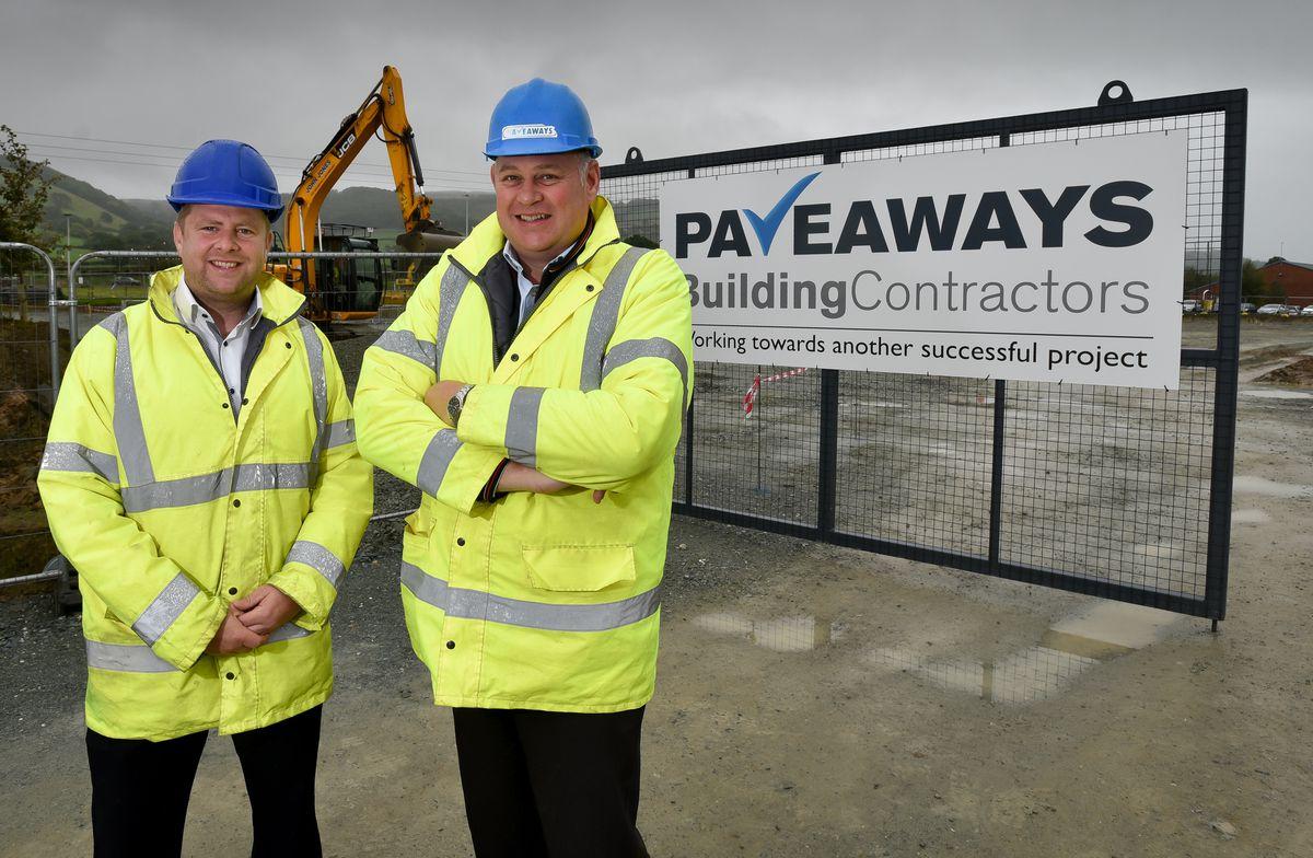 Pave Aways construction director Jamie Evans with managing director Steve Owen