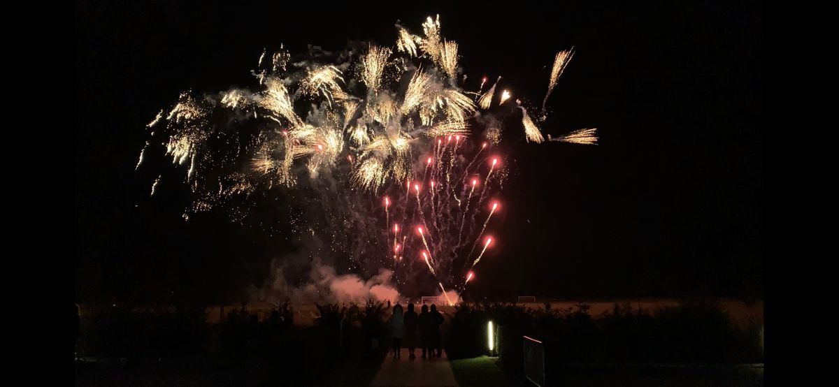 The Lunar New Year fireworks display over Concord's Hall Meadow