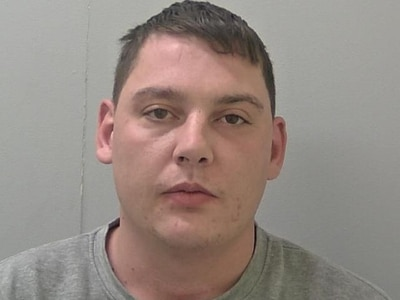 Jailed: Jealous Oswestry thug stabbed man at former girlfriend's home