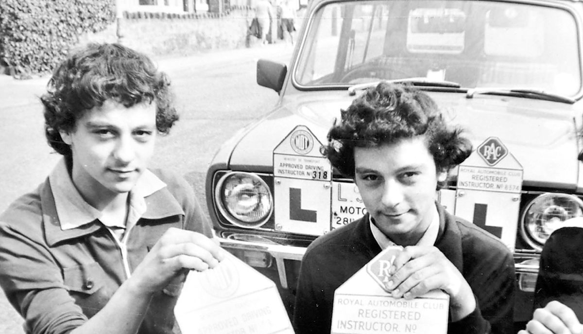 The triplets all passed their driving test on the same day in 1978