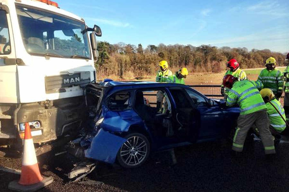 Travel Chaos After Lorry And Three Car Crash On Busy