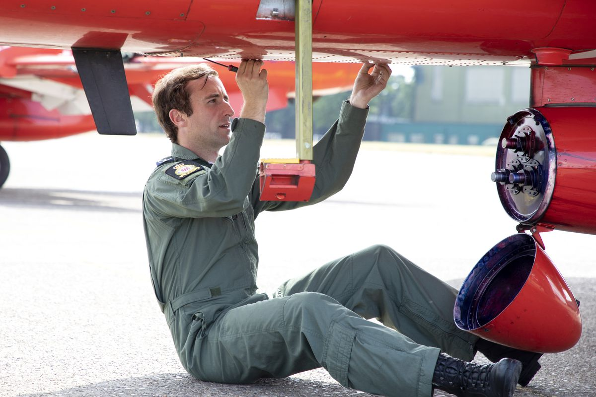 Chester Norton keeps the Red Arrows flying
