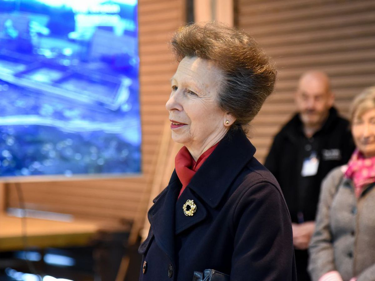 Princess Anne is a visit to Telford last year
