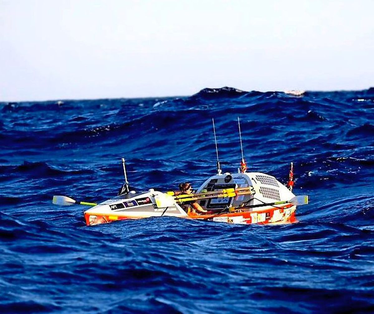 The rower struggled with the solitude during her time at sea