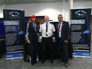 From left: Angie Astley of Telford & Wrekin Council, Inspector Mark Reilly of West Mercia Police and Jas Bedesha, also of the council