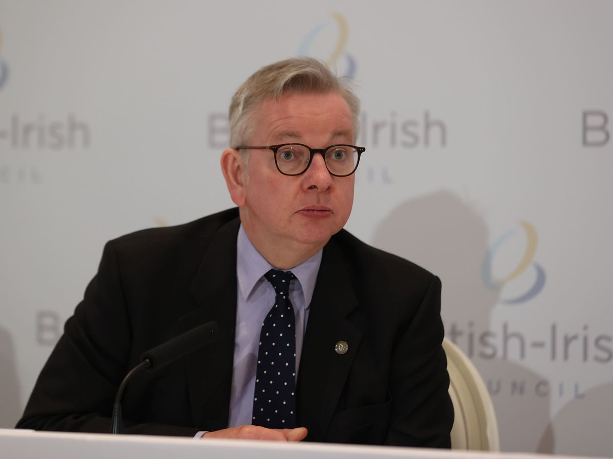 Michael Gove at the British Irish Council summit in Fermanagh