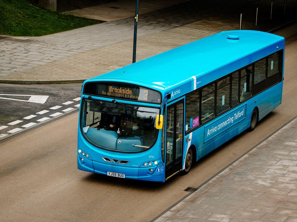 LAST COPYRIGHT SHROPSHIRE STAR JAMIE RICKETTS 18/01/2021 - Arriva Bus GV - Telford Buses.