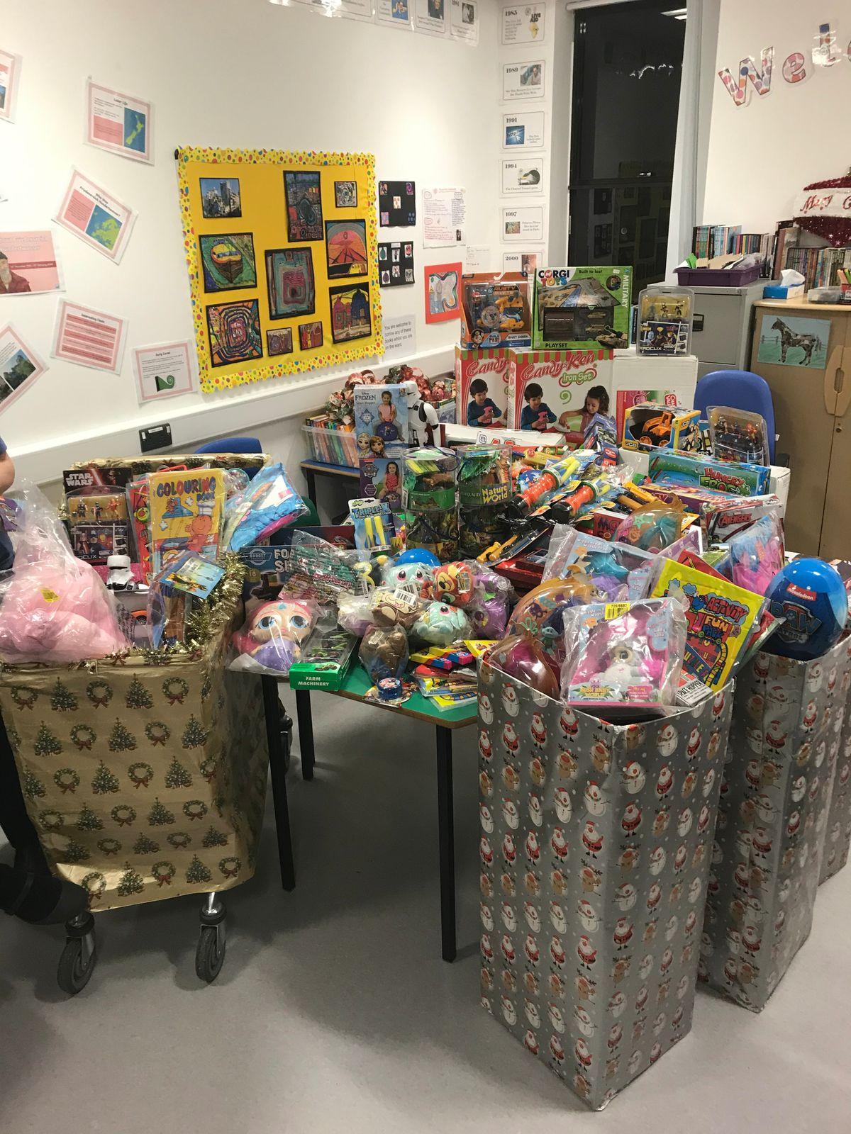 The toys donated to Princess Royal Hospital