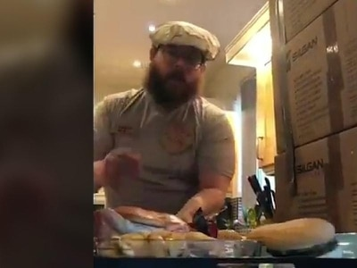 Couple create fast-food drive-through in their kitchen