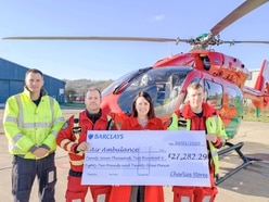 Stores raise more than £27,000 for Air Ambulance charities