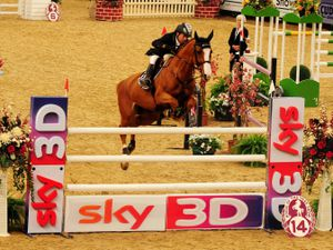 Mexico's Jaime Guerra finishes third in the Sky Sports Trophy during the Horse of the Year Show 2011 at the NEC, Birmingham. PRESS ASSOCIATION Photo. Picture date: Saturday October 8, 2011. Photo credit should read: Rui Vieira/PA Wire