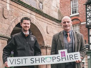 Mark Hooper, project lead at Visit Shropshire and Andrew Stokes, director at Visit England
