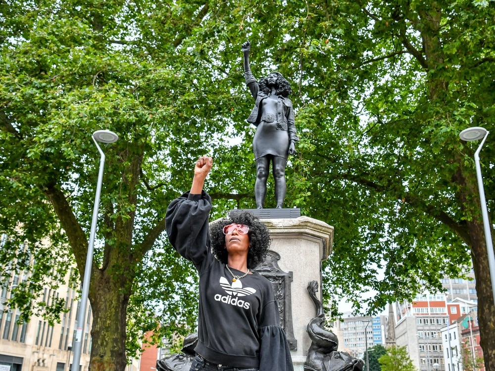 Statue of BLM protester removed from Edward Colston plinth