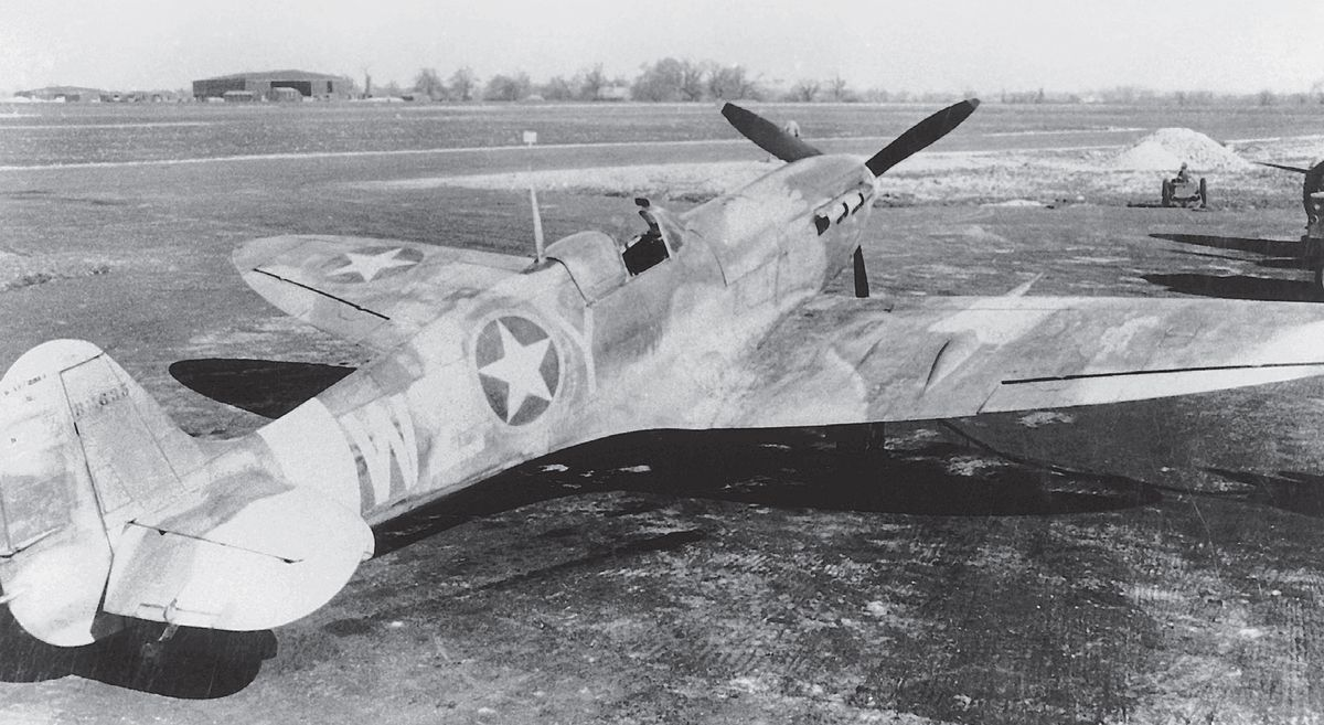 Spitfire Vb BM635 was among the batch of new aircraft delivered to RAF High Ercall on June 21, 1942, for use by the 31st FG upon the group's arrival in the UK. Flown by future ace Second Lieutenant Dale Shafer, among numerous other pilots, during the summer, it was slightly damaged by him in a flying accident on July 20