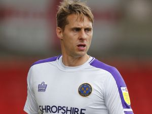 Dave Edwards during the final of his 218 Town appearances at Crewe a couple of weeks ago (AMA)