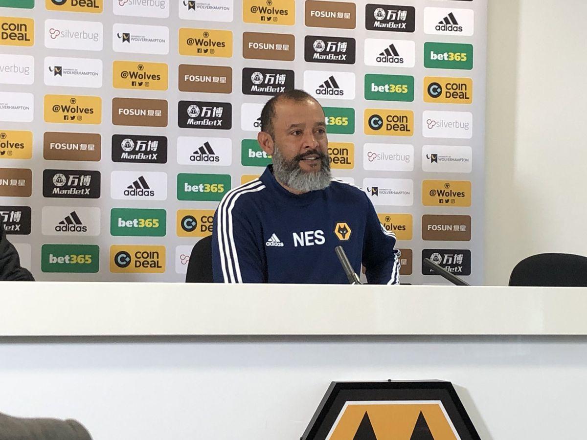 Nuno at today's pre-Pyunik press conference