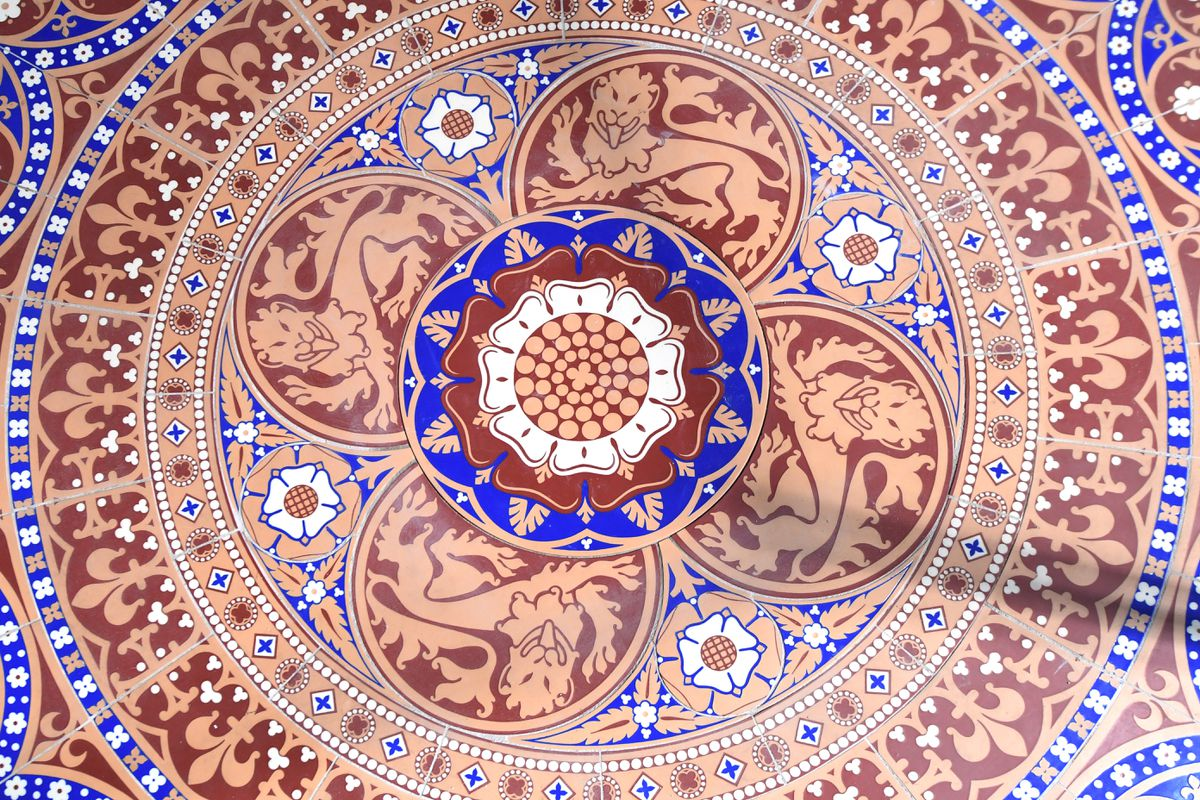 One of the intricate designs which were remade by Craven Dunnill. Pictures: Jessica Taylor