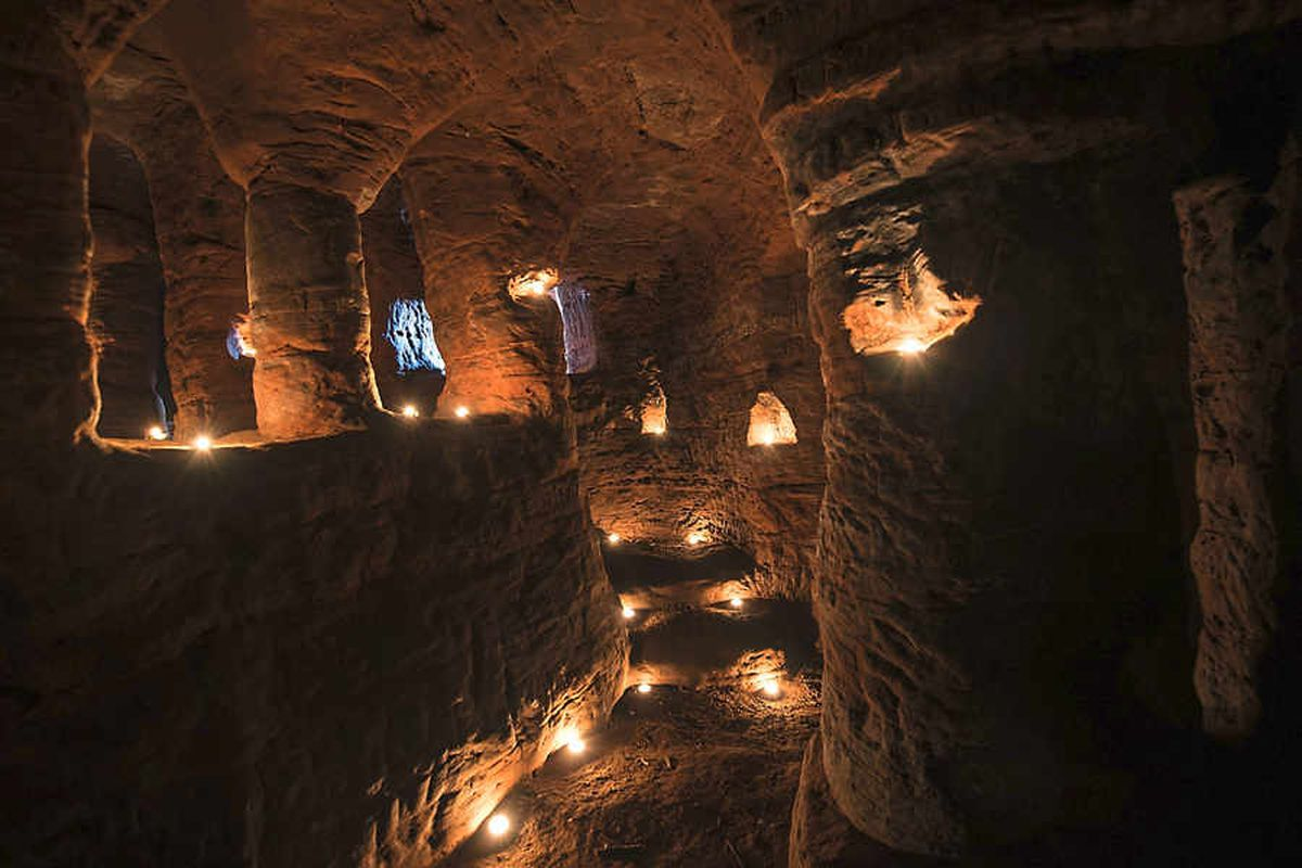 See the secret Knights Templar caves beneath a Shropshire field - pictures and video
