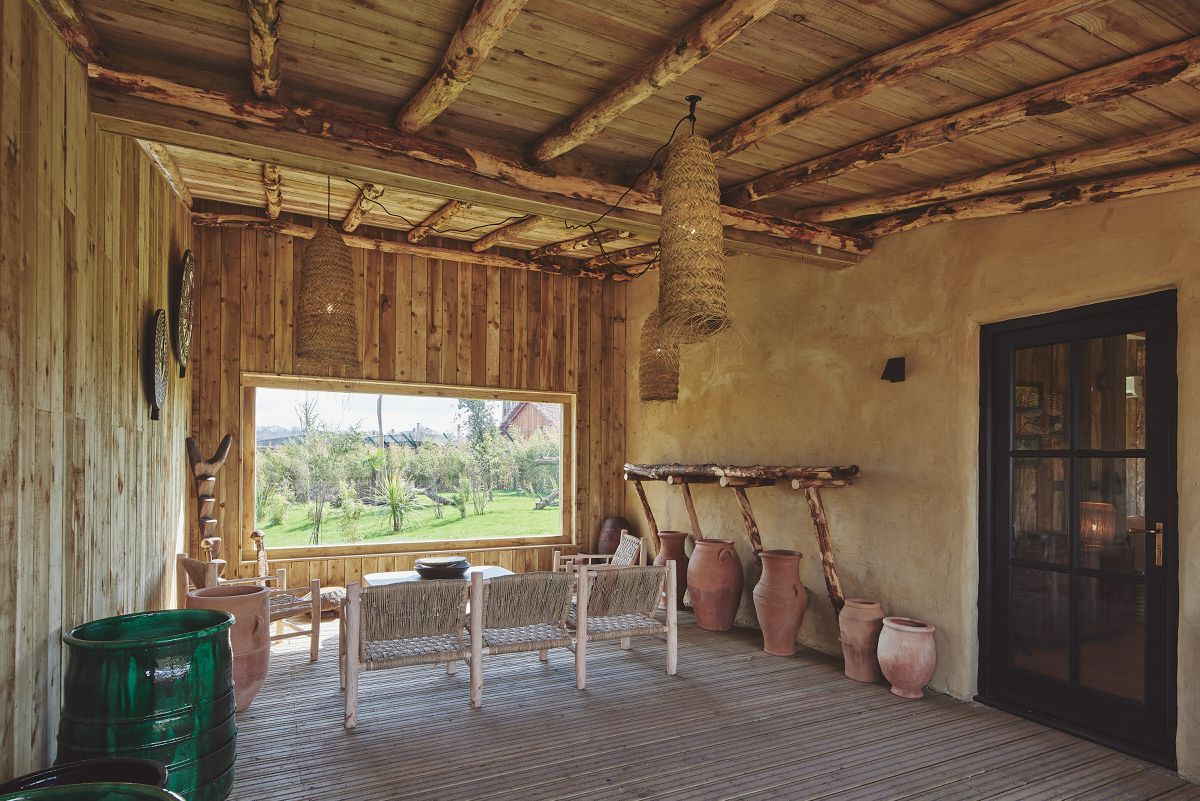 Inside one of the new cheetah lodges at West Midland Safari Park