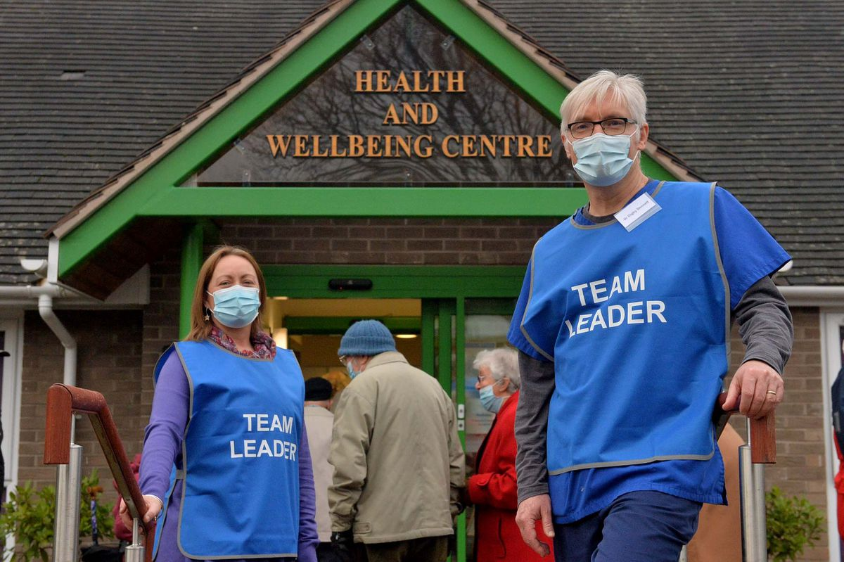 From left, Emma Kay, practice manager, and Digby Bennett, lead GP partner, in Church Stretton