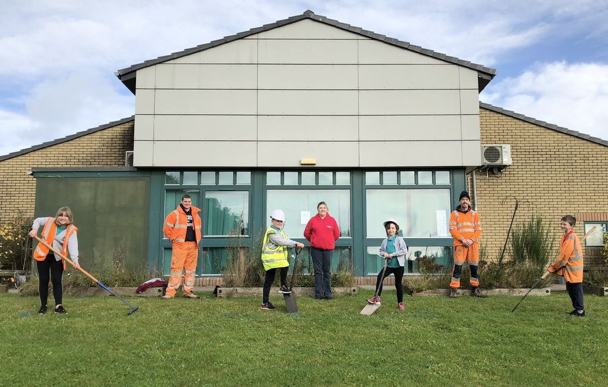 The PTA worked with GN Groundworks to lay the foundations at Redhill Primary Academy