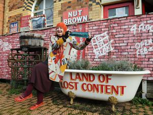 Ready to open Land of Lost Content museum, owner/curator Stella Mitchell