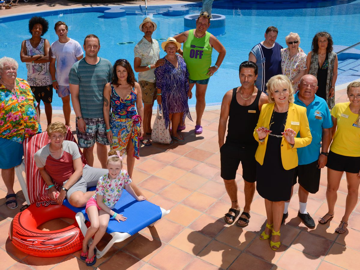 Making a splash – the cast of Benidorm