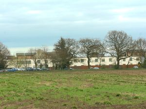 WITH STORY: Exterior view of Stoke Heath Young Offenders Institution, near Market Drayton. Two inmates held a roof top protest on Tuesday afternoon/evening.