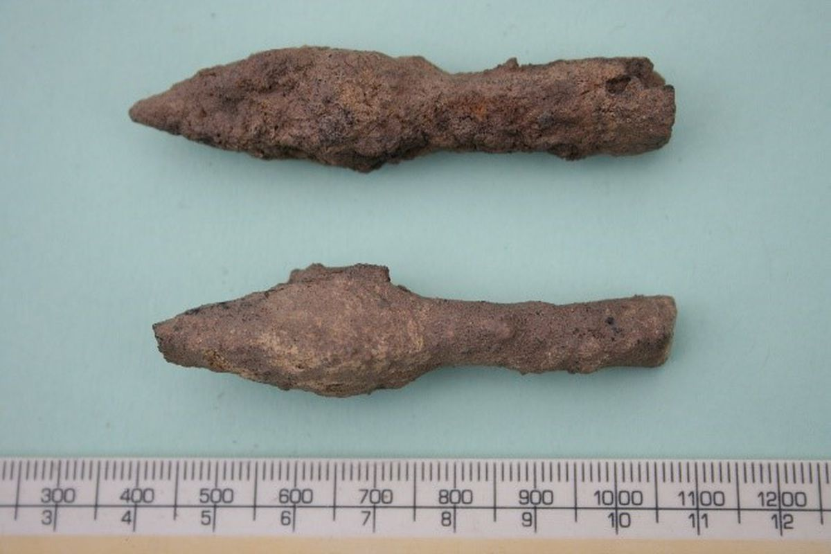 Armour piercing arrowheads dating to 1100 – 1400