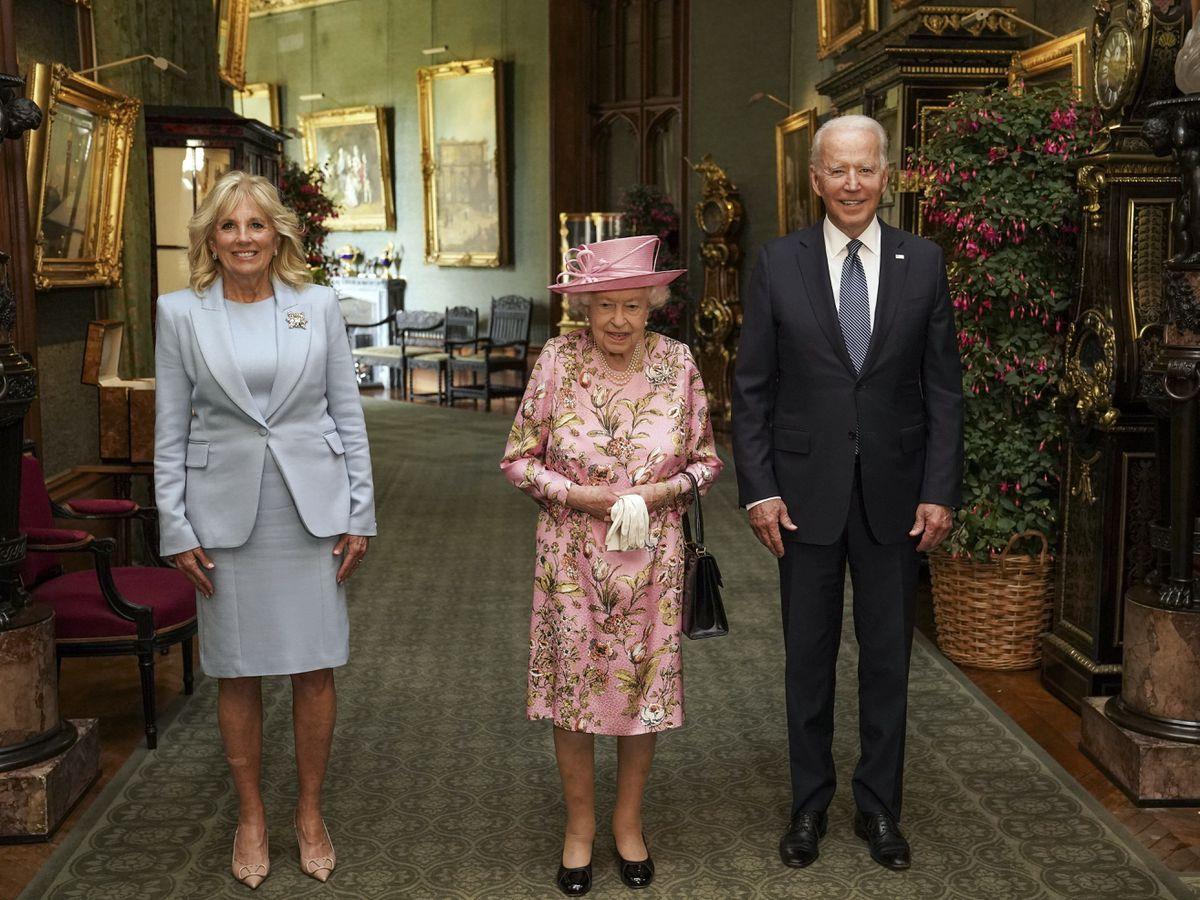 The Queen with US President Joe Biden and First Lady Jill Biden