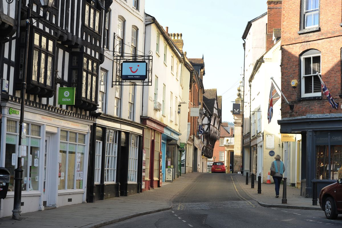 A lonely place – one of the town centre streets.