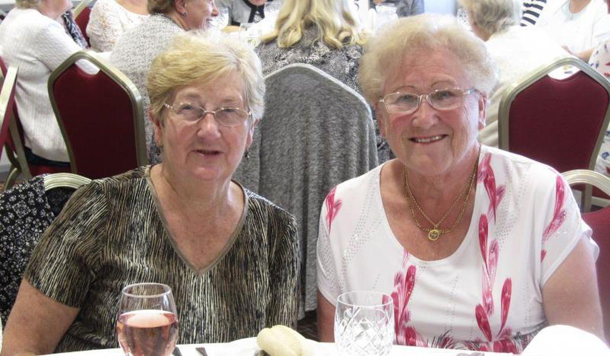 Shropshire bowler Shirley Jones (left)