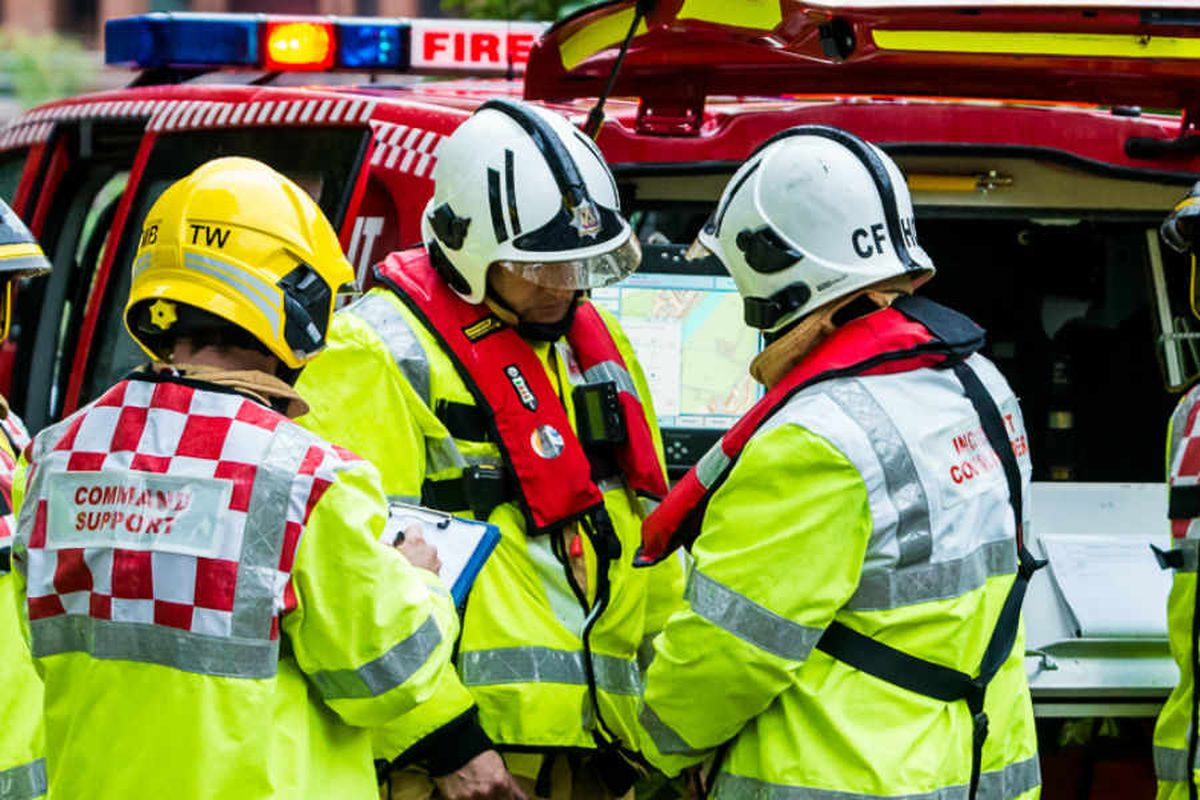 Four fire crews battle Ludlow barn blaze