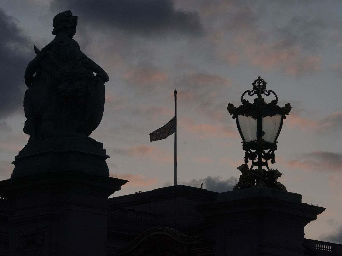 Union flags are flying at half mast on Government buildings and at royal residences (Aaron Chown/PA)