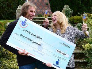 Shrewsbury lottery winners John and Jackie Potter