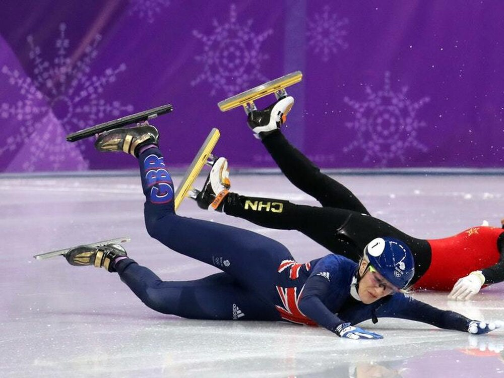 Elise Christie suffers further Winter Olympics agony after crashing out again