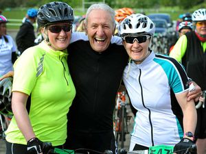 Video and pictures: Cycling legend Hugh Porter leads Shropshire charity ride