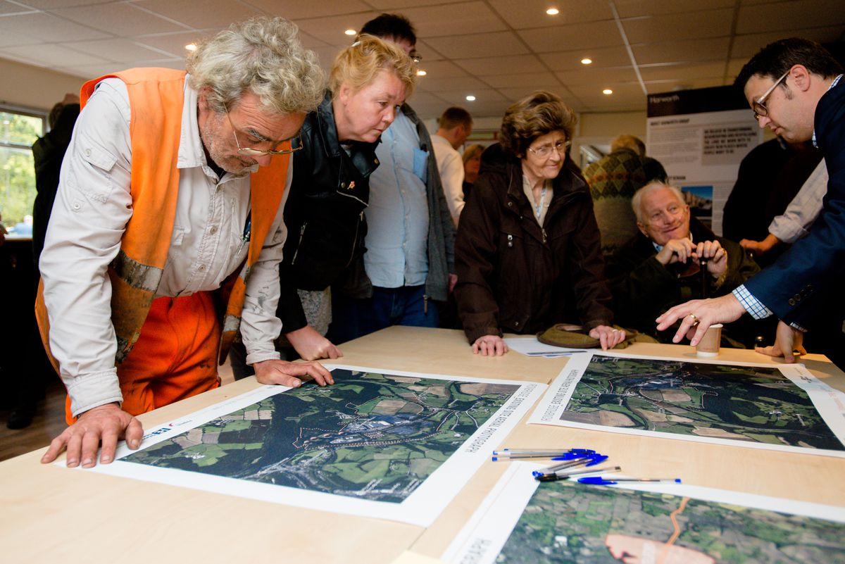 Large numbers of people attended the consultation event to take a look at the early ideas being drawn up