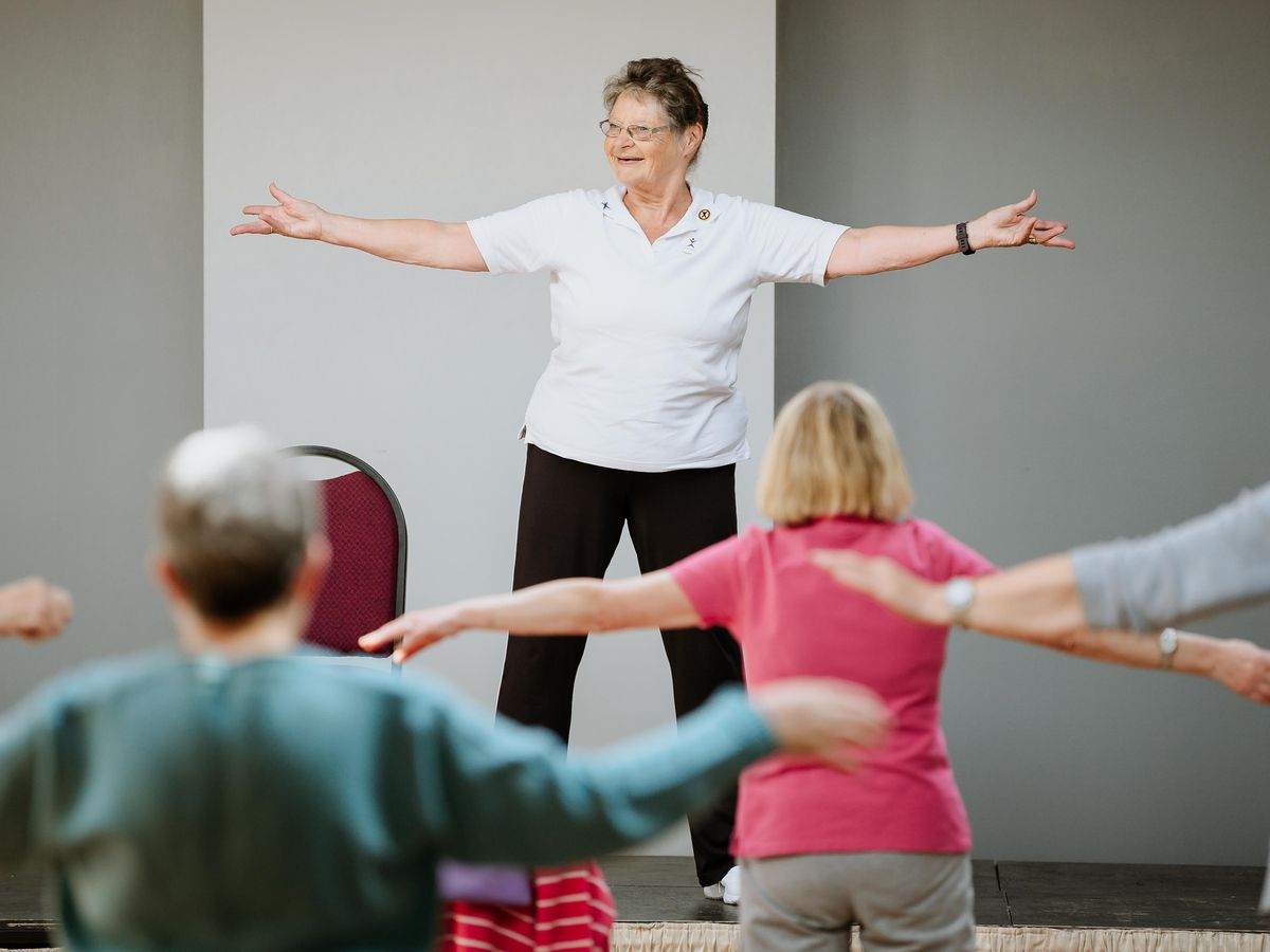Sheila Caspell is a tutor for Extend, a charity that specialises in in exercise for older people and disabled adults. She has been awarded a gold badge for her 20 year achievement.