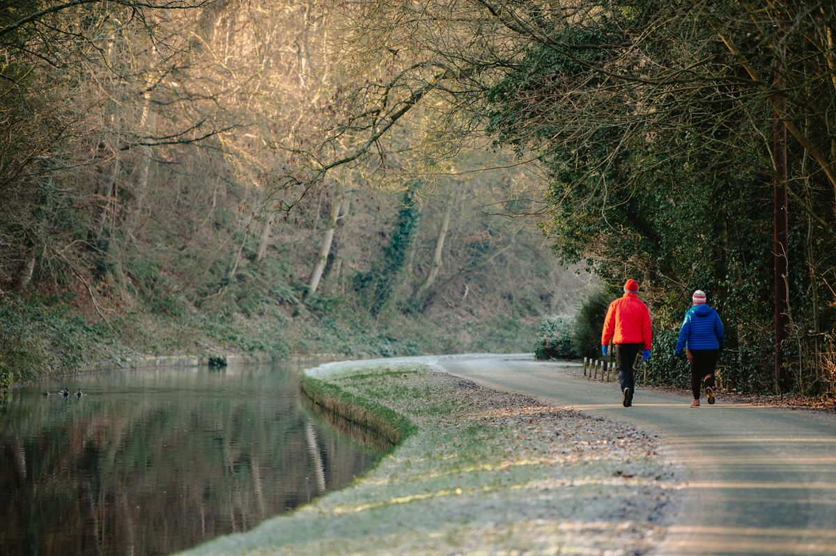 Walkers near the Chirk Aqueduct