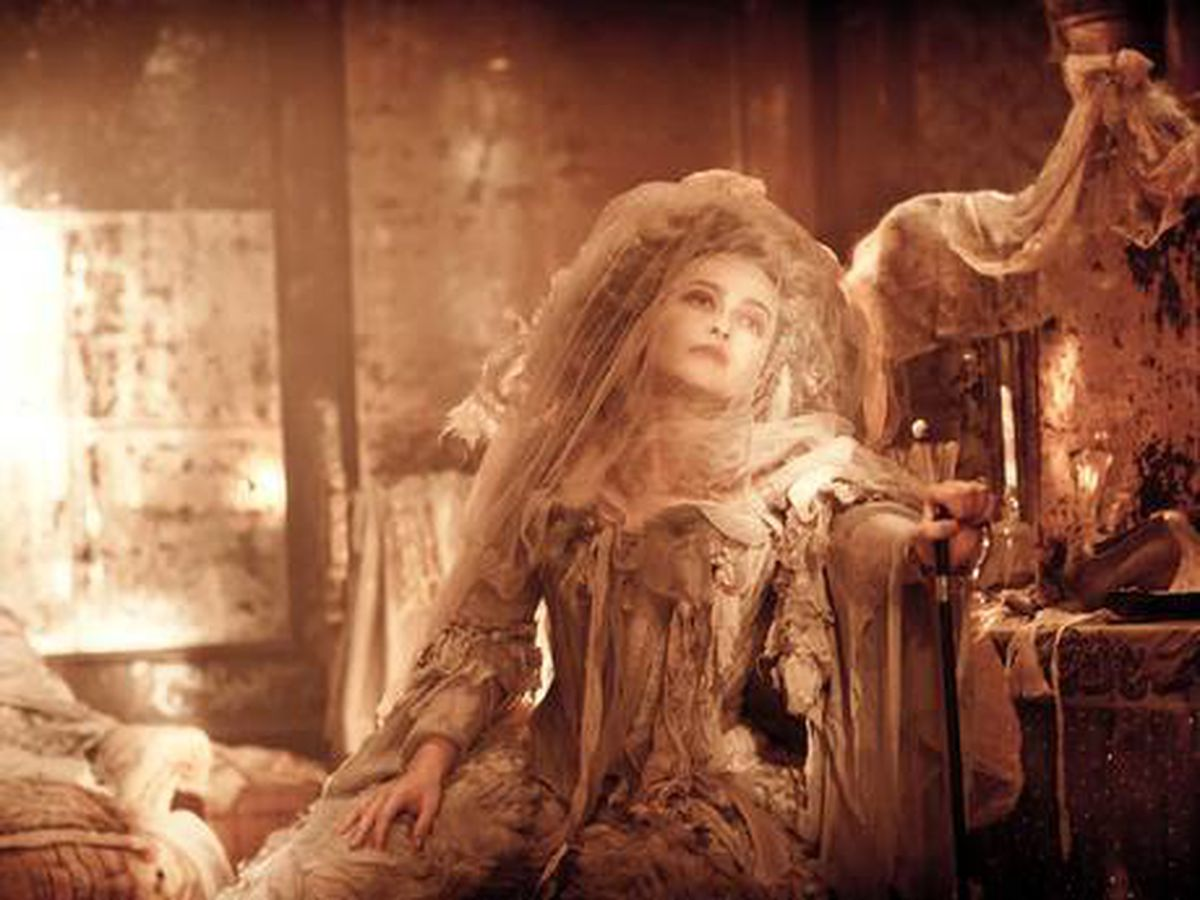 The reclusive Miss Havisham, played here by actress Helena Bonham Carter