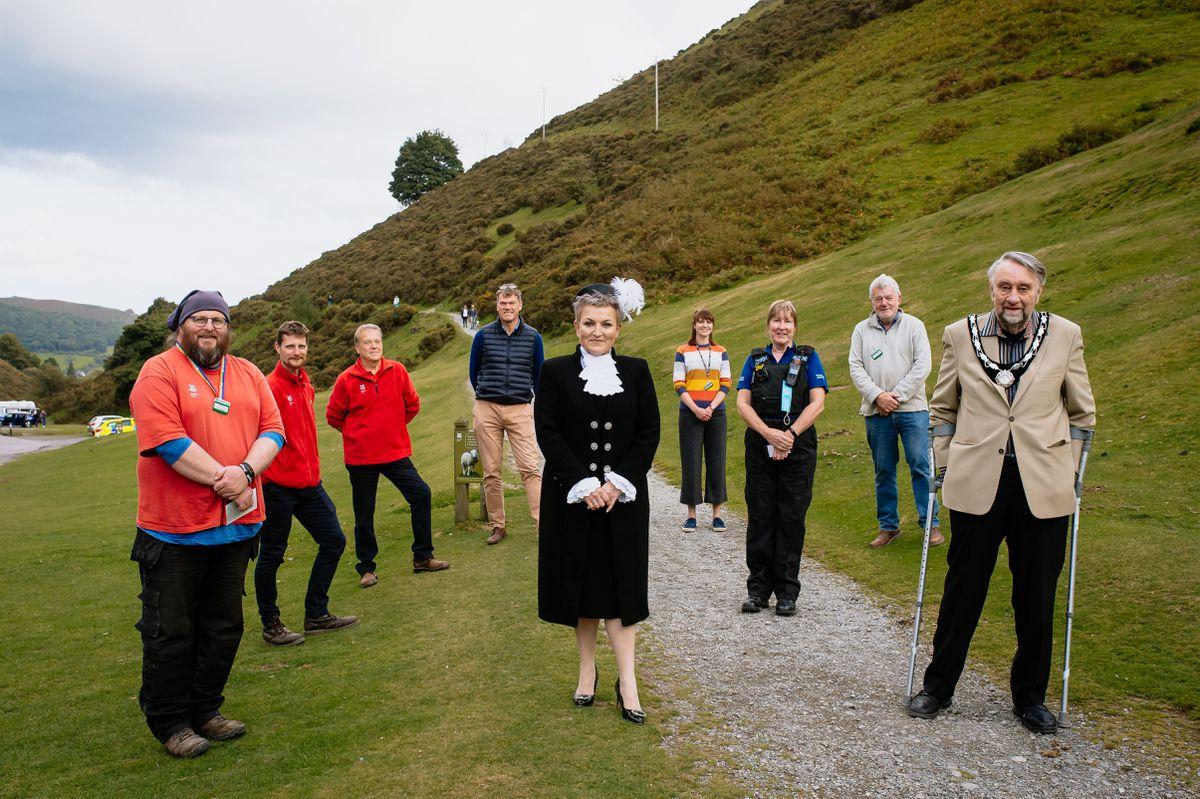 Shropshire High Sheriff Mrs Dean Harris visits National Trust Carding Mill Valley in Church Stretton