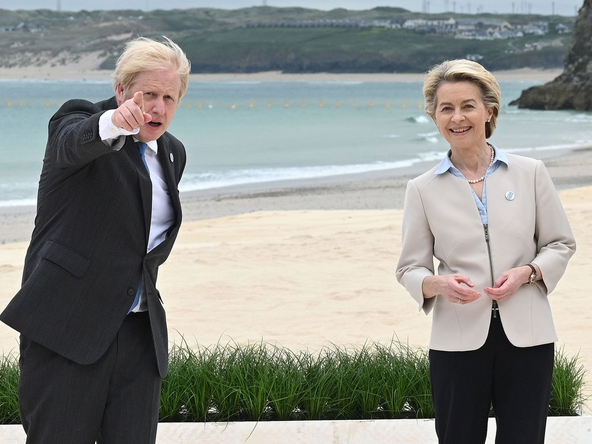 Prime Minister Boris Johnson with president of the European Commission Ursula von der Leyen