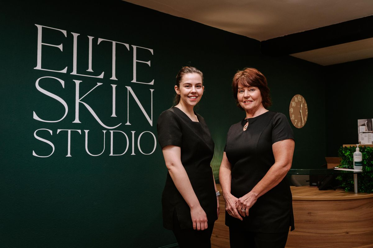 Elite Skin Studio director Fliss Ashton is pictured with mother Anne Ashton, founder and managing director