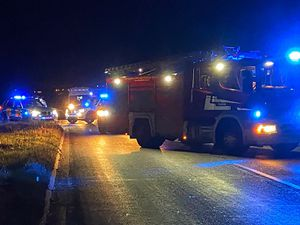 Emergency Services at the scene. Photo: @SFRS_MDrayton